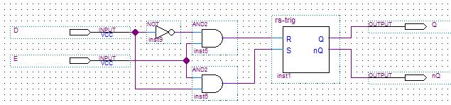 Схема D-триггера