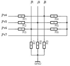 Резистивный 4-х битный ЦАП