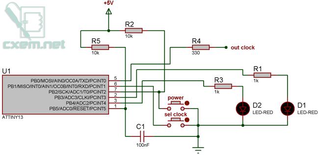 Схема устройства оживления микроконтроллеров Atmel