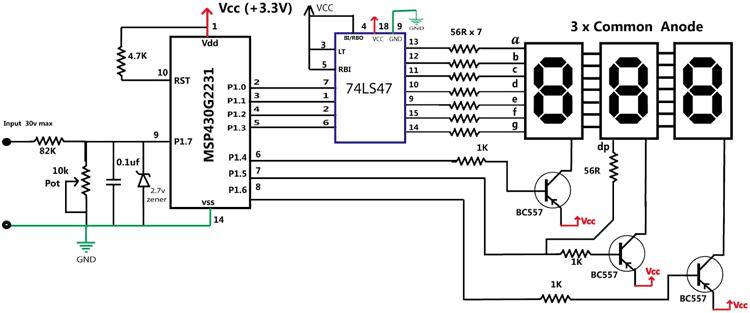 Микроконтроллер MSP430 имеет
