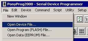 Open Device File
