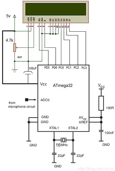 Схема аудио анализатора