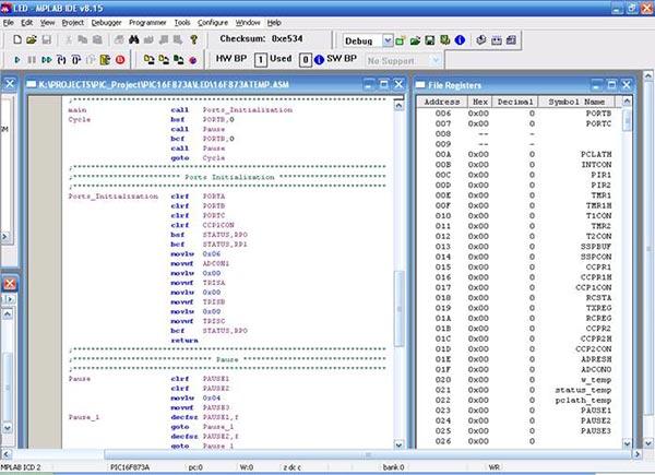 Tool -> 1 MPLAB ICD 2.