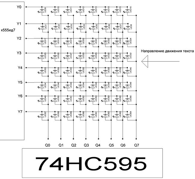 Подключение матрицы