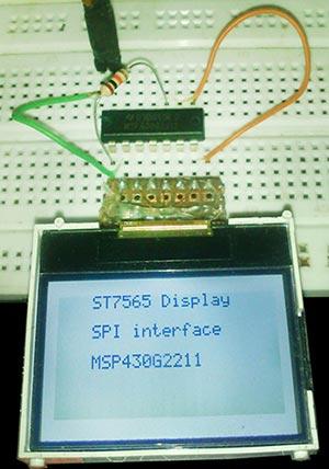 Подключение LCD-дисплея ST7565