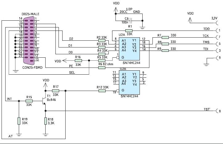 Схема LPT-FET программатора от