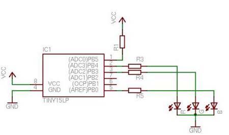 Энциклопедия радиоэлектроники и электротехники.  Ниже представлена простая схема управления RGB светодиодом (LED) или...