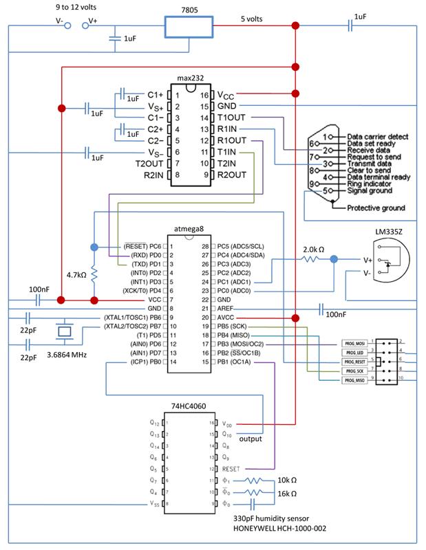 схема датчика влажности - Практическая схемотехника.