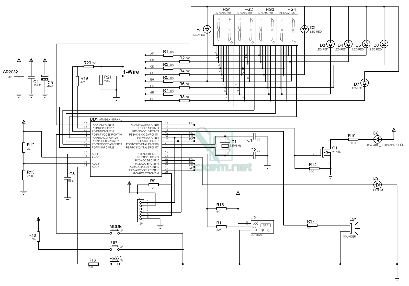 РадиоКот: Часы на газоразрядных индикаторах ИН-12Б 92