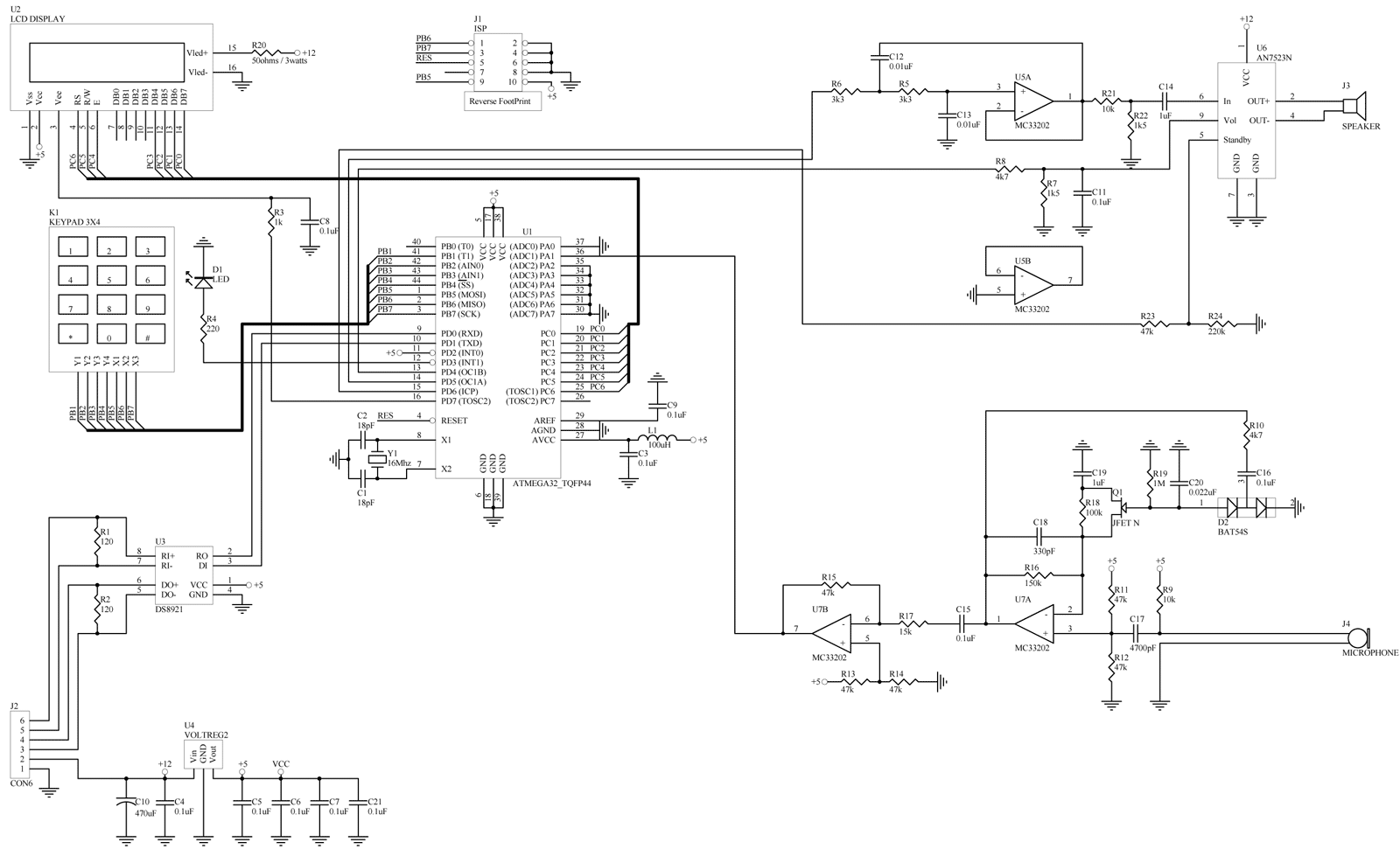 принципиальная схема JS-051129-V04 ВЫЗЫВНАЯ ПАНЕЛЬ