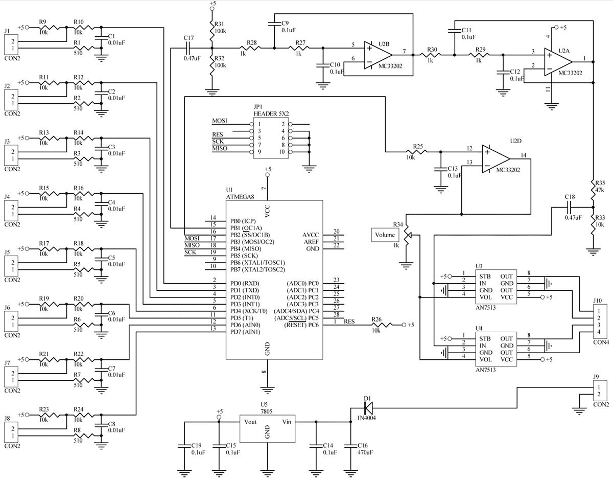 схема электрическая принципиальная звонка