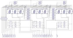 Схема блока индикации паяльной станции