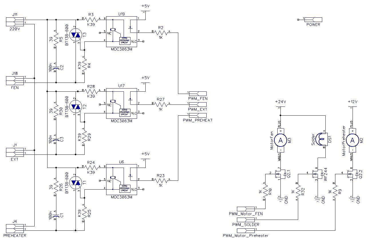 Паяльная станция схема подключения