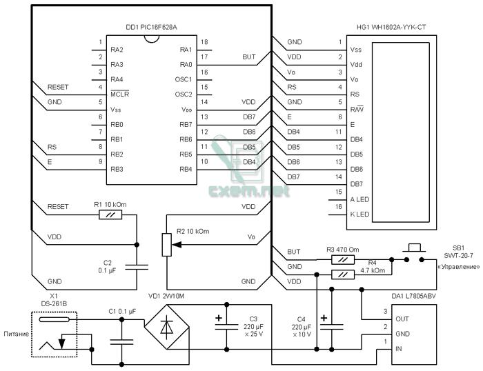 схема pic16f628a