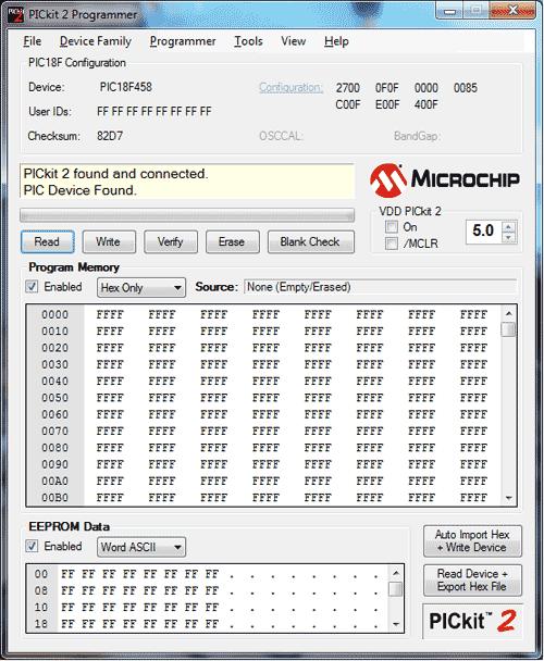 Программу для программатора pickit2