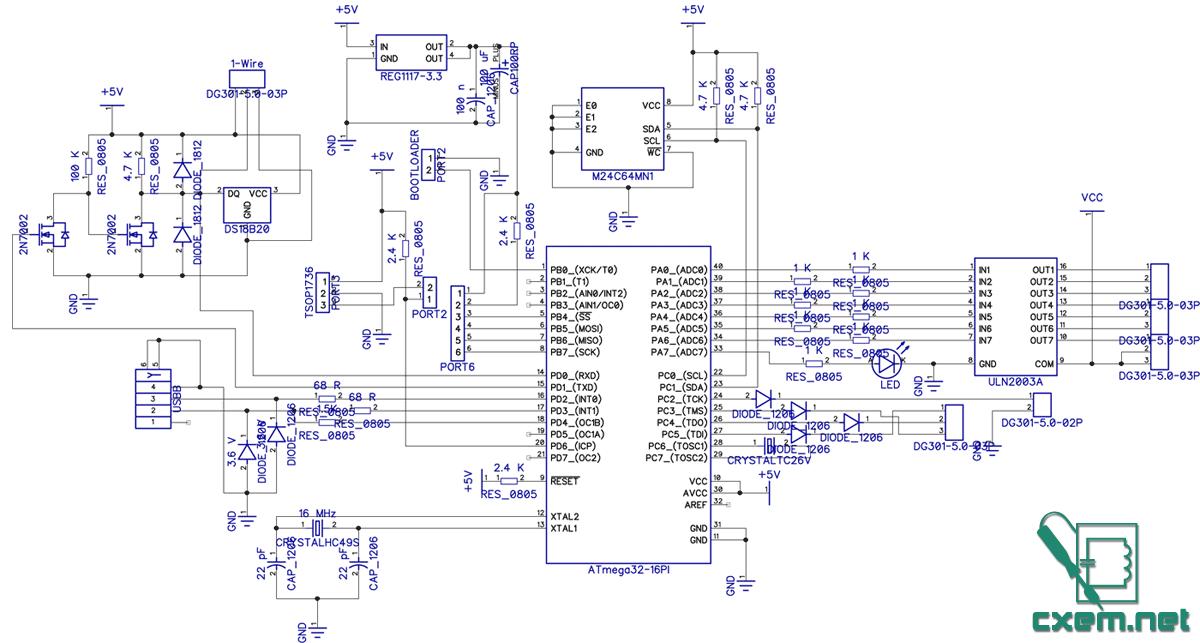 Микроконтроллер Atmega32