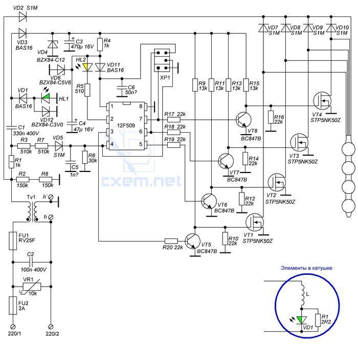 Алмаг 01 схема электрическая 550