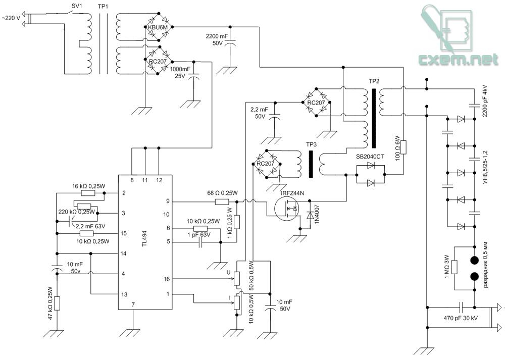 схема стабилизатора на 12 вольт с регулировкой - Всемирная схемотехника.