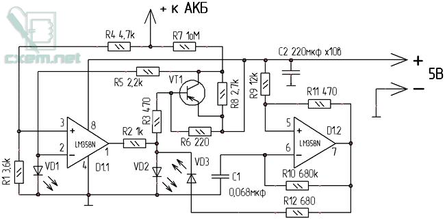 Схема зарядного устройства Li-ion аккумуляторов