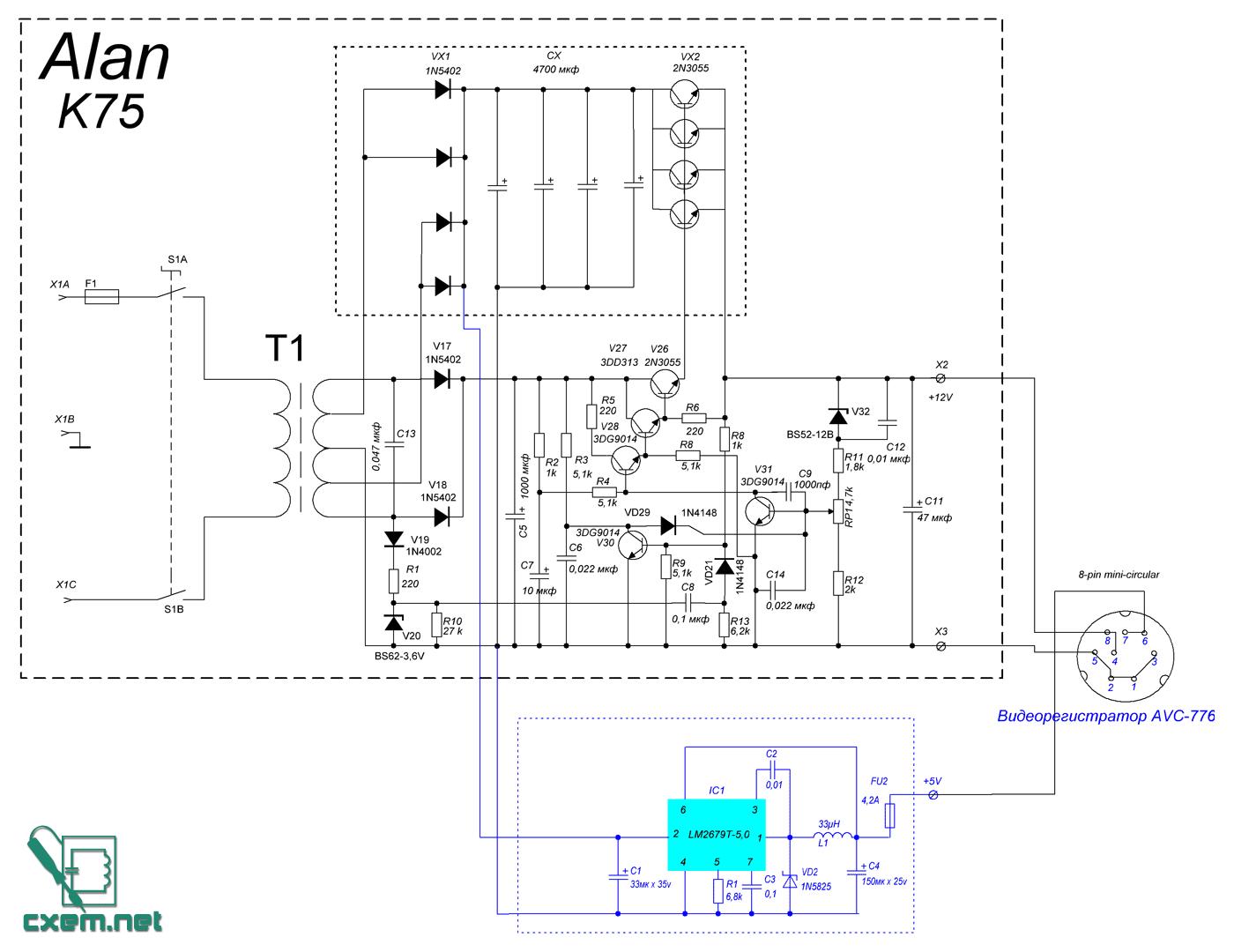 Схема блока питания dre 5000