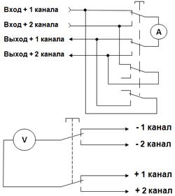 Схемы коммутации измерительных приборов переключателями типа П2К