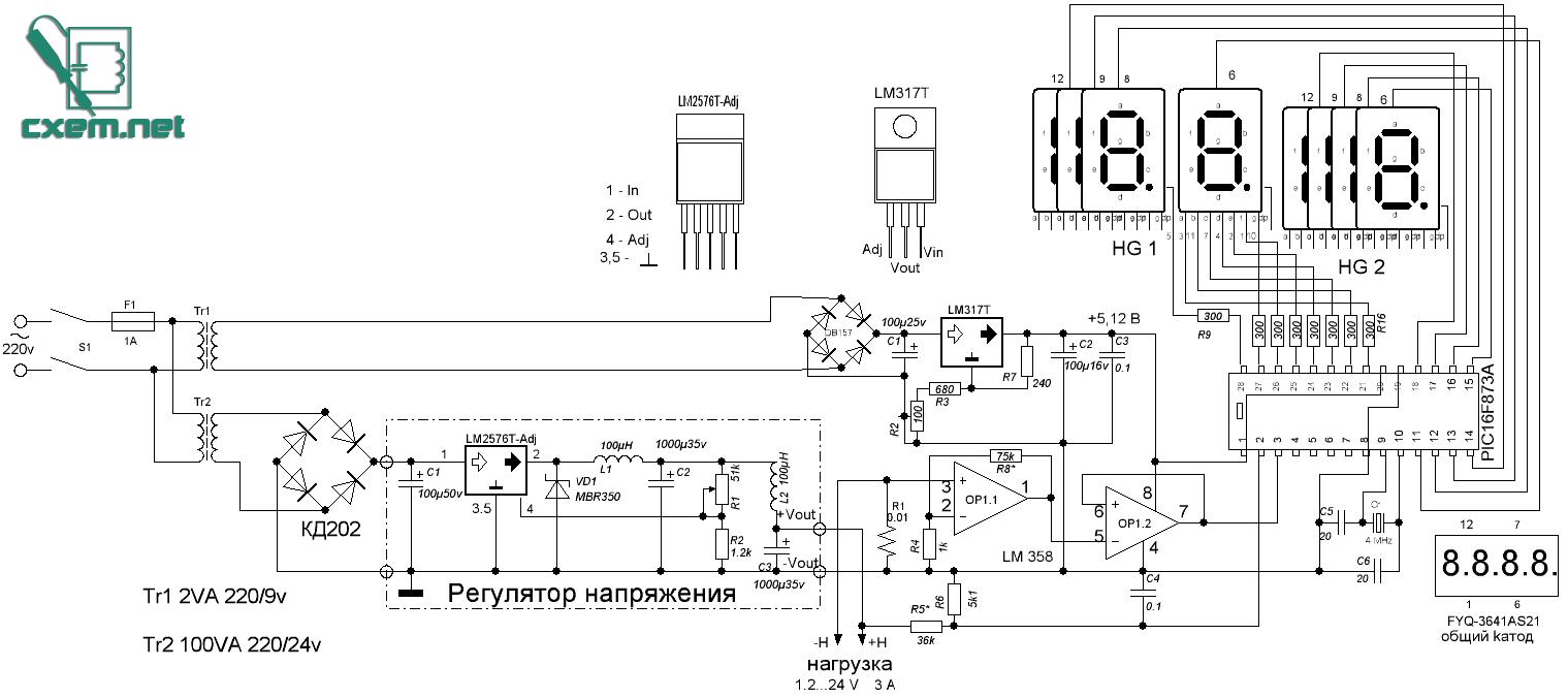 Схема индикации для бп