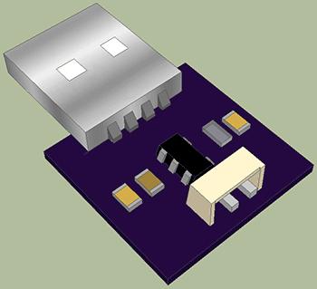 3D модель зарядного устройства на MAX1555