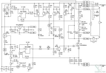 Схема лабораторного источника питания на IGBT транзисторе