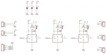 Схема 3-х канального драйвера для управления RGB-светодиодом