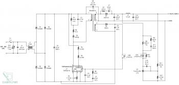 Схема светодиодного прожектора с блоком питания