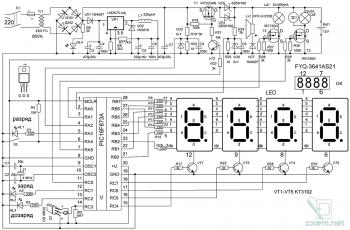 Схема умного зарядного устройства на PIC-контроллере
