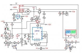 Принципиальная схема доработанного YG-1502DD