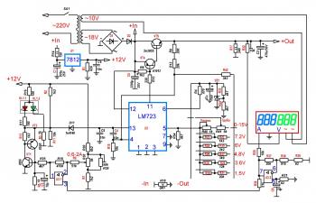 Схема оригинального ЛБП YG-1502DD