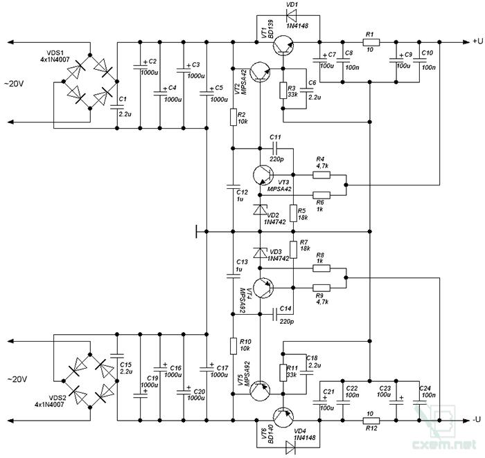 простой стабилизированный бп для умзч - Практическая схемотехника.