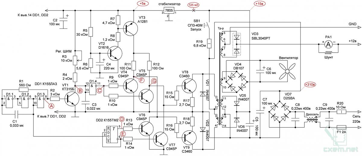 Gigabyte ge-c450n-a2 схема