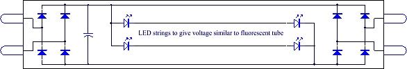 Балласт, который преобразует напряжение переменного тока в напряжение постоянного тока