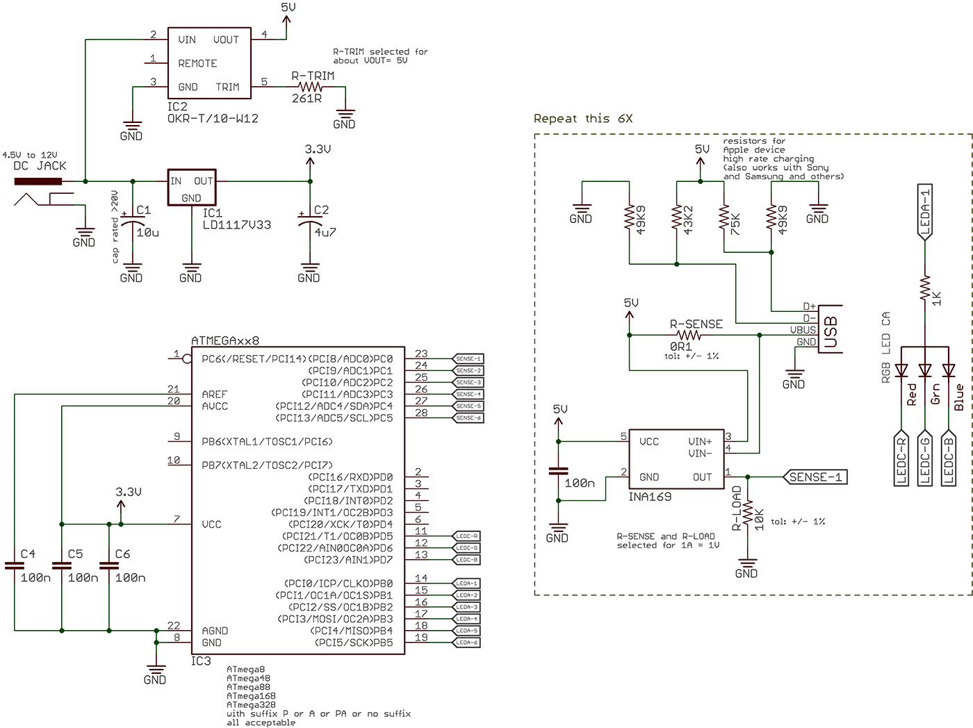 схема авто зарядное для телефона