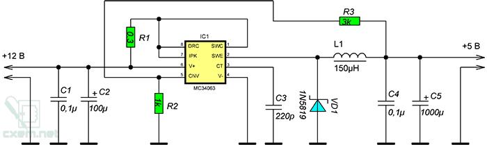 Схема адаптера для зарядки телефона в салоне автомобиля