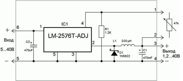 LM2576 схема