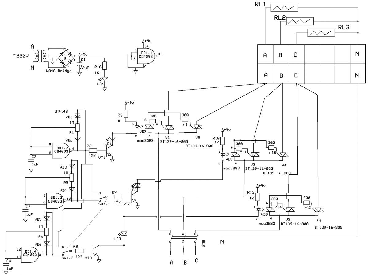 Схема 3 фазного регулятора фото 792