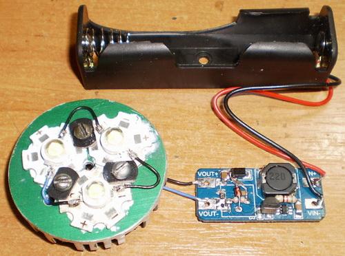 Повышающий драйвер для ручного светодиодного фонарика