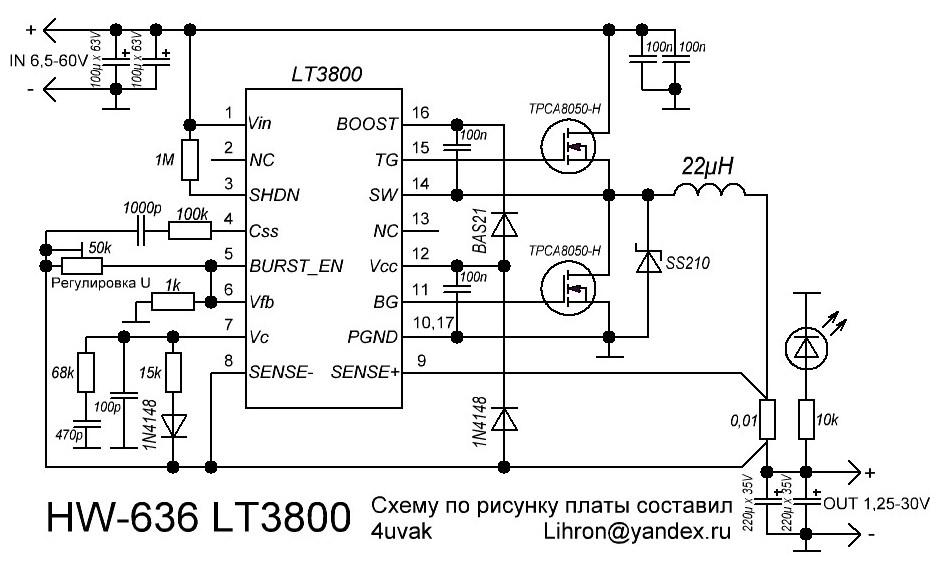 """Результат пошуку зображень за запитом """"LT3800 схема"""""""