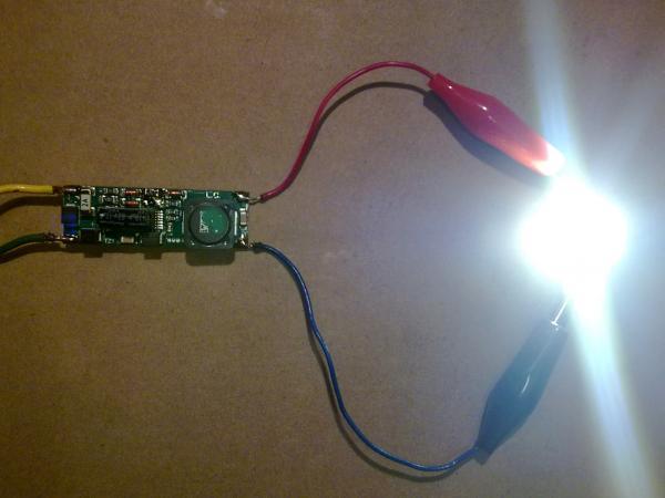 Подключение светодиода к драйверу