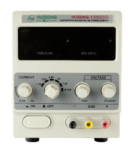Передняя панель бюджетного ЛБП YG-1502DD