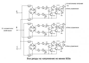 Схема блока синхронизации
