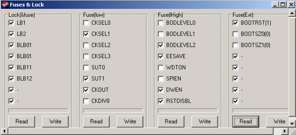 FUSE-биты микроконтроллера