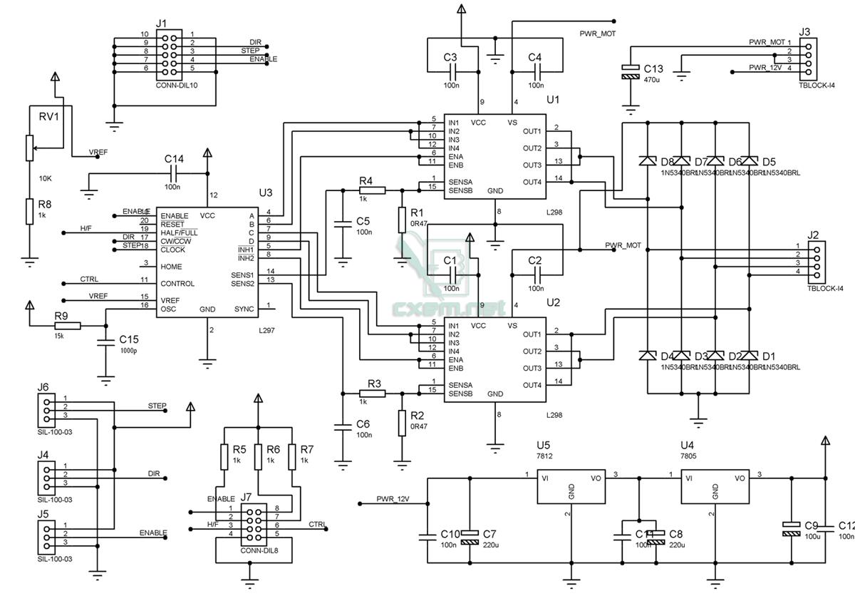 Схема драйвер шагового двигателя файл от Romashka_Sky.