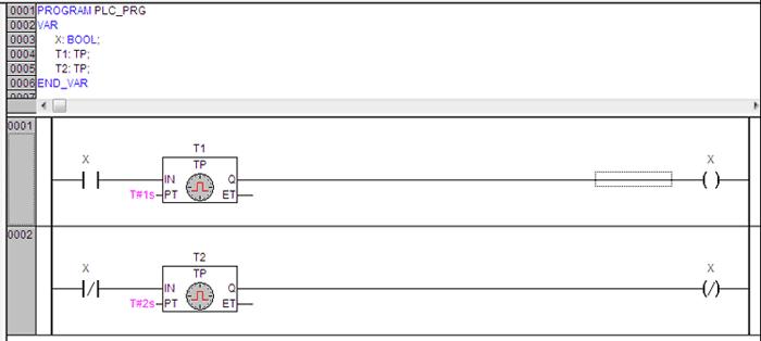Программа генератора одиночных импульсов.
