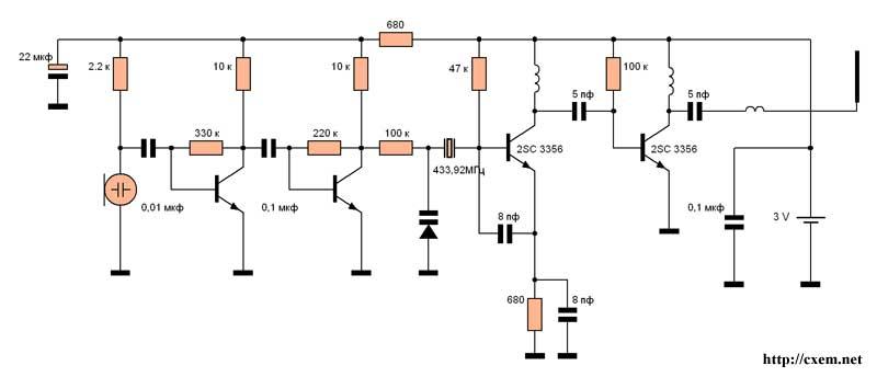 Передатчик на 433 МГц