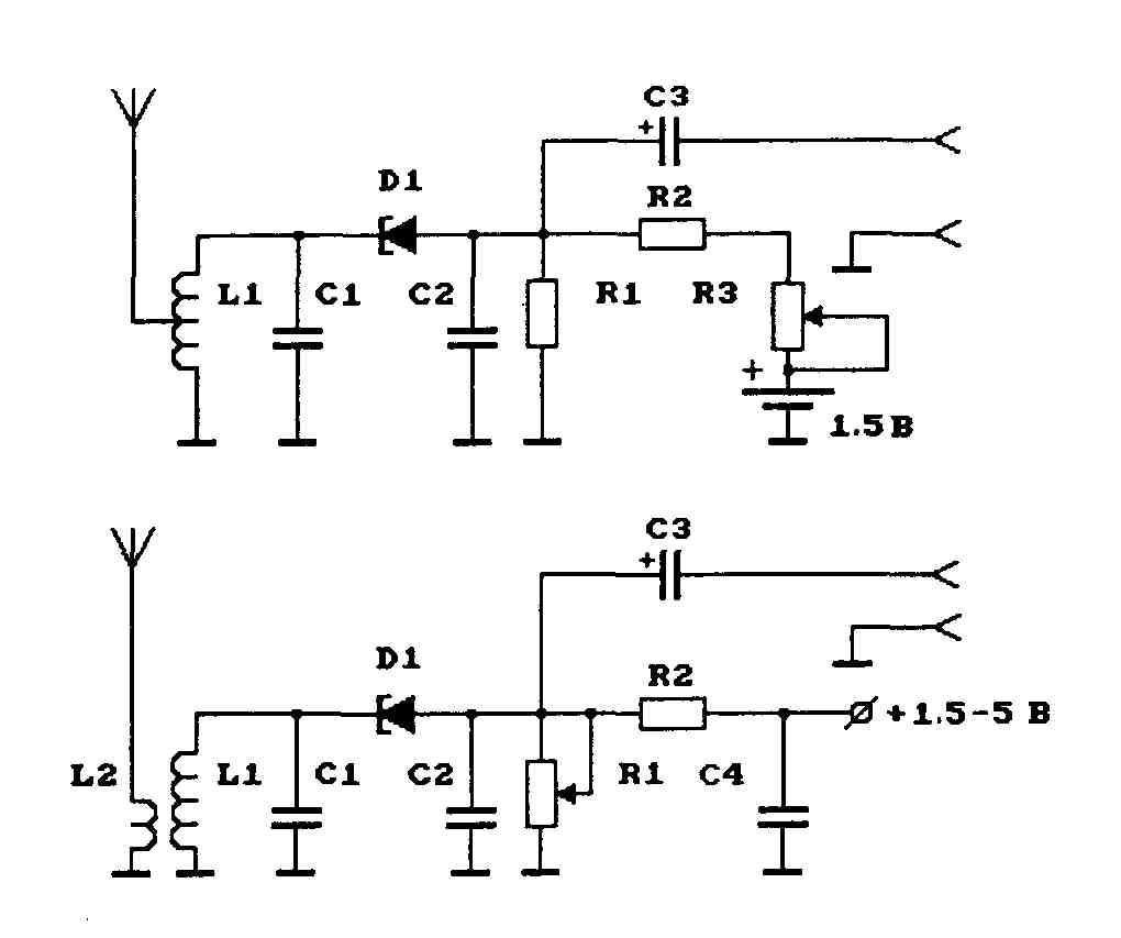 Рис.1. Схемы ЧМ-передатчиков на тунельных диодах.  Приведенные схемы ЧМ-радиопередатчиков обладают интересной...